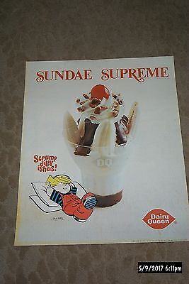 2 Vintage Dairy Queen Postesr Dennis The Menace And Friends