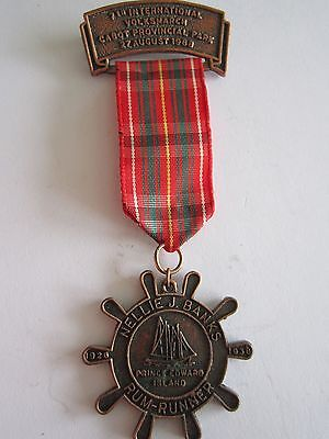 Canada 17/10/1988 Volksmarch Medal: Cabot Provincial Park Trail PEI Rum Runner