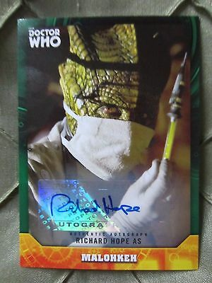Doctor Who Signature Series RICHARD HOPE as MALOKKEH Autograph 19/50