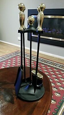 5 Pce Fire Tool Set - With Stand ... Like New