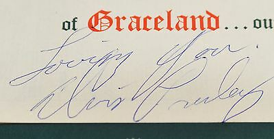 Elvis Presley Autographed/Signed 1959 Christmas Card-The Presleys-In Army-MREP