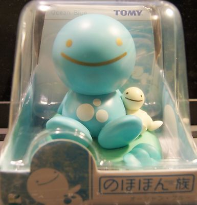 Japan TOMY Nohohon Zoku Solar Bobble Head Figure Sunshine Buddies Ocean Blue