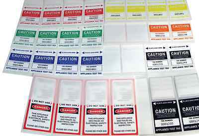 Electrician Appliance Test Tag Labels Pk100 with Pen in Every Pack