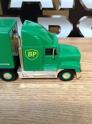 1999 BP GOLD OIL CHOPPER TRACTOR TRAILOR TRUCK + HELICOPTER Rare Limited Edition