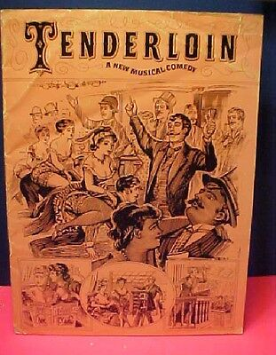 New York Broadway Program for musical Tenderloin 1950's  Maurice Evans