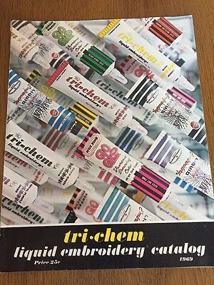 Tri-Chem Liquid Embroidery Catalog Decorator's Guide 1969