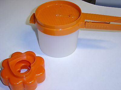 Vintage Tupperware Hand Sifter & Bowl Plus Nesting Cookie Cutters