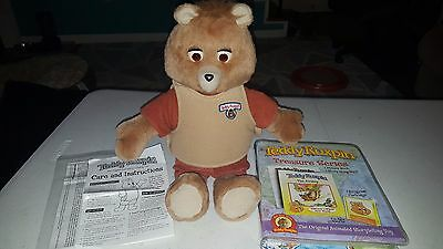 Teddy Ruxpin cartridge version with Treasure Series 1 & 2 Backpack 2006 Works!!