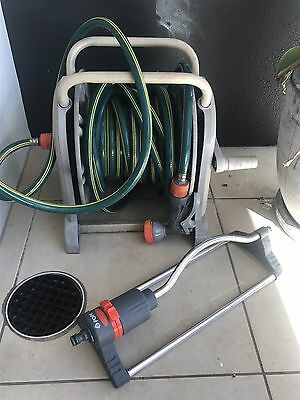 Garden Hose Reel And Fittings