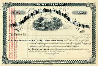 18__ Solomon Valley Phillipsburg & Northern RR Stock Certificate