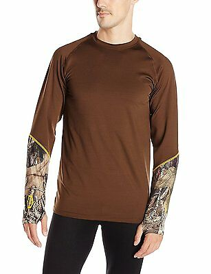 Yukon Gear Mens Scent Control Mid Weight Base Layer Top Hunting Hiking Camp 7C10