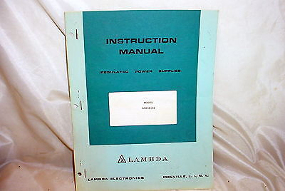 Lambda LND-Z-152 Power Supply Instruction Manual