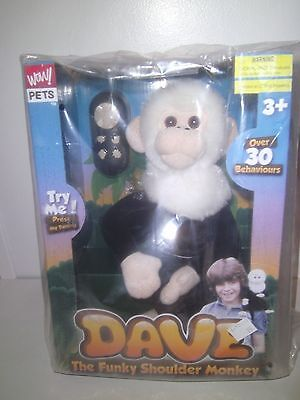 Dave the Funky Shoulder Monkey Funny Robot Monkey with remote control