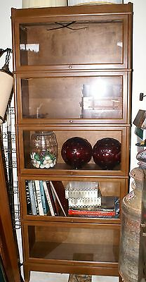 """Vintage Barrister Lawyers Stacking Bookcase 5 Sections Top Bottom 88"""" x 34""""  #2"""