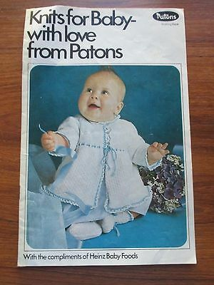 Knits For Baby With Love From Patons Knitting & Crochet Pattern Book