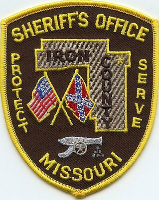 IRON COUNTY MISSOURI MO Civil War Cannon SHERIFF POLICE PATCH