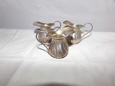 3 Sterling Silver Miniature Pitchers-1.3 Ozt-2 Inch-800 Silver-Hallmarks-Nr!