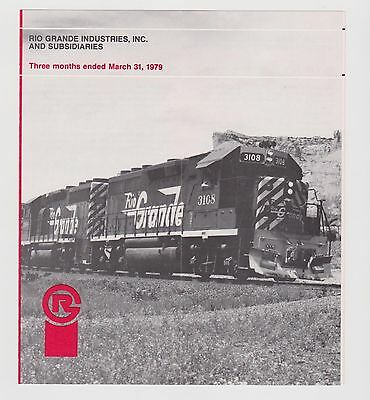 Rio Grande Industries Inc Financial Report 3 Months Ended March 31, 1979