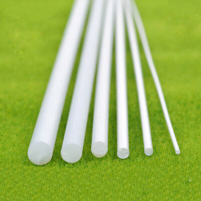 ABS Round Plastic Rod White Stick Length 250mm Model Scenery Building DIY 4 Size
