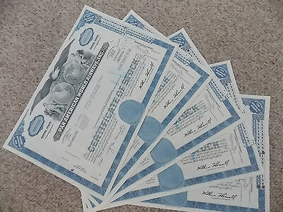 5 Pan American World Airways Inc Stock Certs