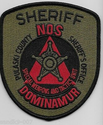 SWAT SRT New Pulaski County Sheriff State of ARKANSAS AR Shoulder Patch