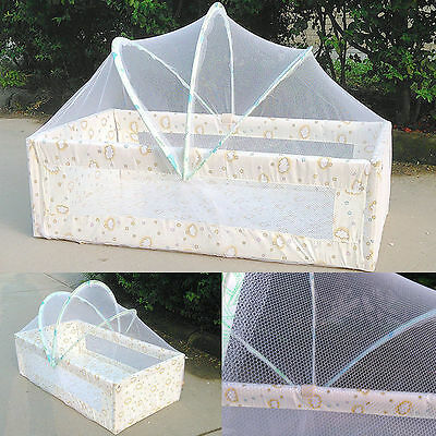 Baby Mosquito Net Netting Canopy for Nursery Crib Bed Cot Canopy Playpens White