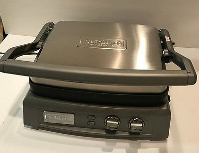 Cuisinart GR-150 Griddler Deluxe, Brushed Stainless- Mint Used Once