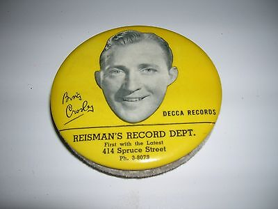 Antique Bing Crosby Decca Records Cleaner Reisman's Co vintage advertising music