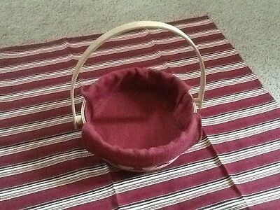 Small Longaberger Pie Plate Basket Red Weave