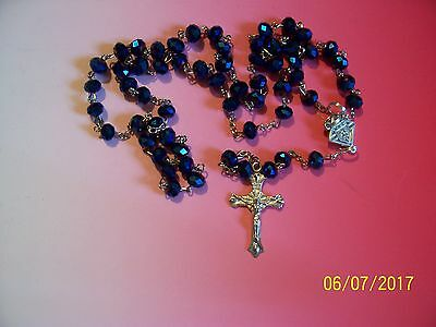 KNIGHTS OF COLUMBUS Rosary- IR - Blue 20 inches