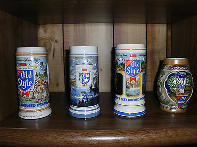 Old Style Steins -1983-1985 -1986 -1987 Limited Edition