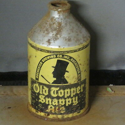 Old  Topper  Snappy Ale   Colorful  Irtp   Cone Top