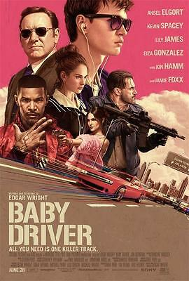 "Baby Driver Movie Poster 2017 Film Edgar Wright Kevin Spacey 24""x36""/60x90cm 002"