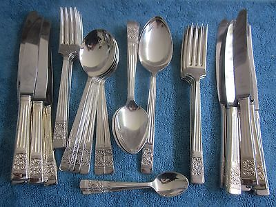 44 vintage RODD BERKELY silver plated CUTLERY 6 place set knife, forks, spoons