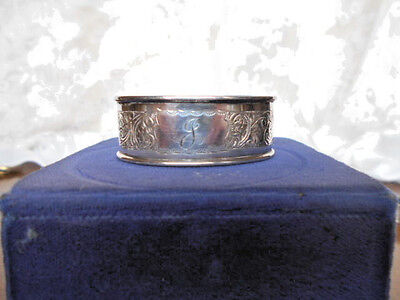 Art Nouveau Solid Sterling Silver Henry Williamson Napkin Ring 1924 Birmingham J
