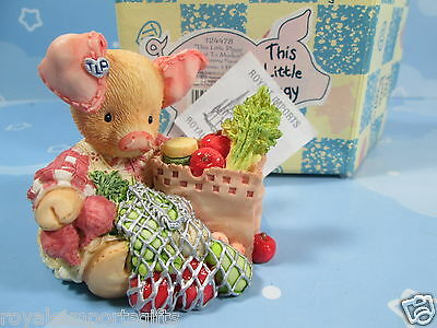This Little Piggy Went To Market, Grocery Shopping 124478 + Box Retired Enesco