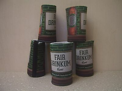 COOPERS PALE ALE STUBBY HOLDERS x 6 (NEW)