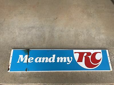 60s ~ 70s Vintage METAL 'Me and My RC Cola' Sign