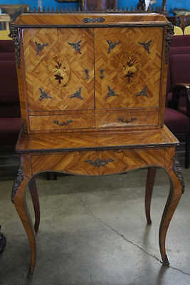 French Desk With Bookcase And Cherubs Lot 6003
