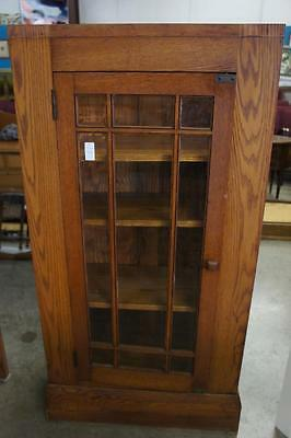 Early Book Shelf/ Display Cabinet W/ Beveled Glass Lot 5910