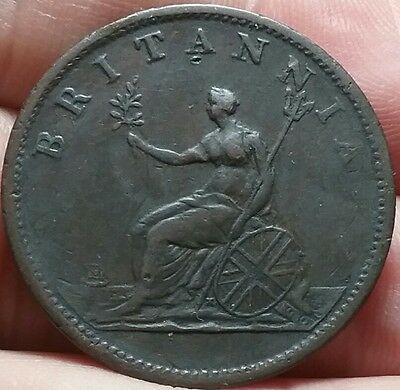 1806 Half Penny UK : George lll coin VF #ac393d