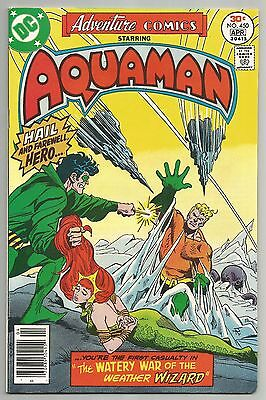Adventure Comics No. 450 Apr. 1977 W/ Aquaman & Jim Aparo Art Dc Comics  Vf.