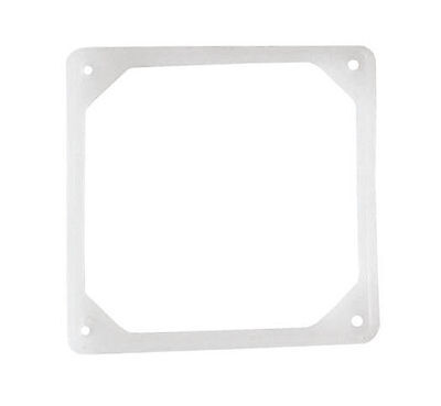80mm Noise Reduction Fan Rubber Frame, Clear