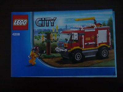 Lego City Fire Truck Set 4208 Instruction Manual Book Only
