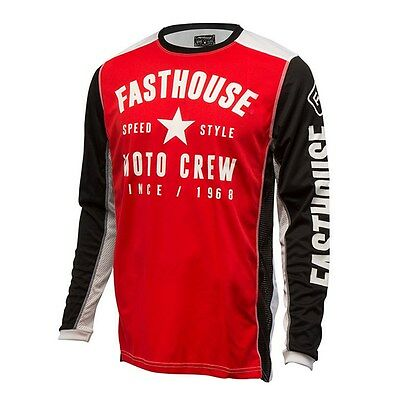 Fasthouse Speed Style L1 Off Road Dirbike Jersey Red Black