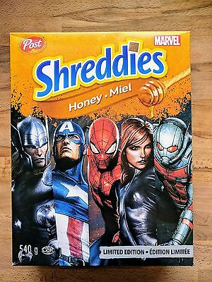Post Shreddies Cereal - Honey - Marvel Limited Edition - Canada - 540 grams