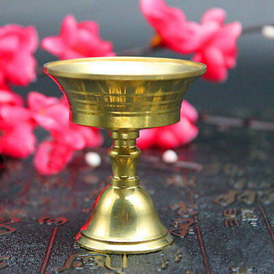 Candle Holder Chinese Buddhism Pure Copper Candlestick Brass auspicious Wealth