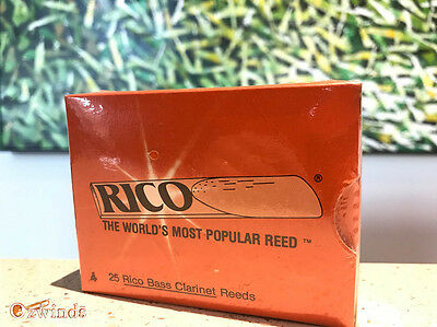 Rico Bass Clarinet Reeds , Box of 25, Strength #4