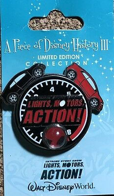 Rare 2008 LE WDW Piece Of Disney History III -Lights Motors Action! Pin