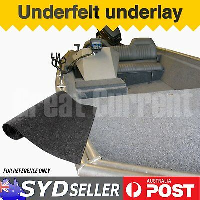 Sold By MTR Boat Trailer Running Board Carpet Marine Deck Underfelt Grey 2M Wide